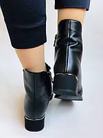 Erisses. Жіночі осінні ботинки з натуральної шкіри на середньому каблуці на вузьку ногу. Розмір 35.36.37.39.40, фото 7