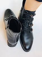 Erisses. Женские осенние ботинки из натуральной кожи на среднем каблуке на узкую ногу.  Размер 35.36.37.39.40, фото 9
