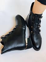 Erisses. Жіночі осінні ботинки з натуральної шкіри на середньому каблуці на вузьку ногу. Розмір 35.36.37.39.40, фото 10