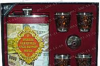 Мужской Подарочный Набор TZ-616-1 Фляга+4стопки+воронка Оригинальные подарки для мужчин Подарочные Наборы фляг
