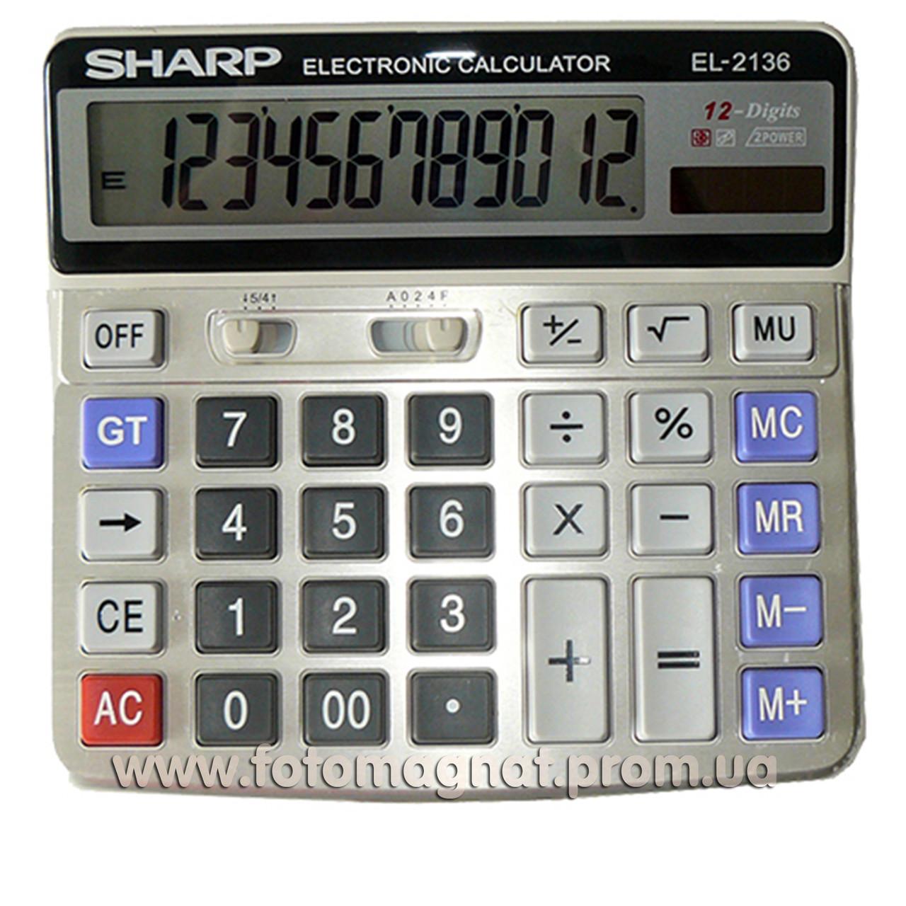 Калькулятор настольный бухгалтерский Sharp 2136