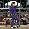 Теплий в'язаний батальний спортивний костюм на блискавці 44 46 48 50 52 54 56 58 розмір, фото 2