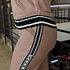 Теплый вязаный батальный спортивный костюм на молнии 44 46 48 50 52 54 56 58 размер, фото 8