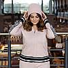 Теплый вязаный батальный спортивный костюм на молнии 44 46 48 50 52 54 56 58 размер, фото 10