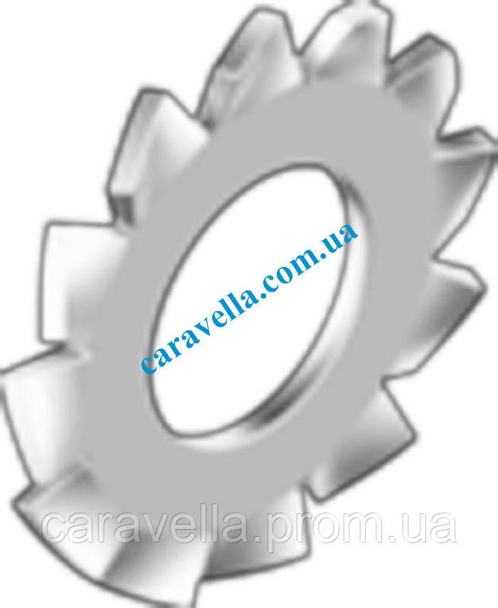 DIN 6798 тип A, шайба стопорная с наружными зубцами из бронзы - ТзОВ Компанія «Каравелла» в Львове