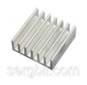 Радіатор алюм. 14х14х6мм Cooltex для чіпів IC, VGA, RAM, LED і т. п.