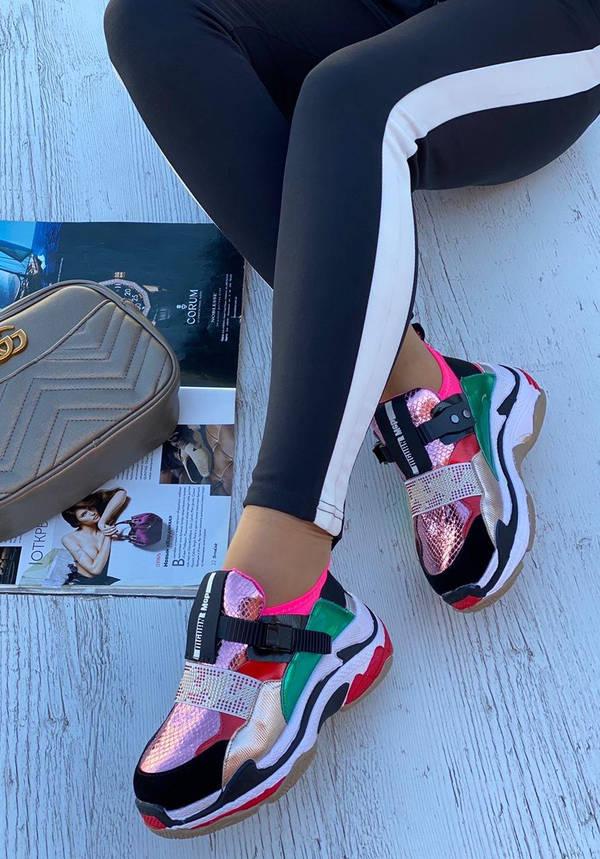 Кросівки жіночі 6 пар в ящику рожевого кольору 36-40, фото 2