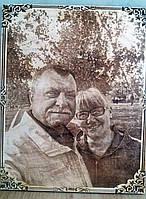 Подарок родителям фотопртрет на дереве