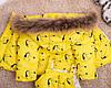 Детский зимний комбинезон двойка с натуральным мехом