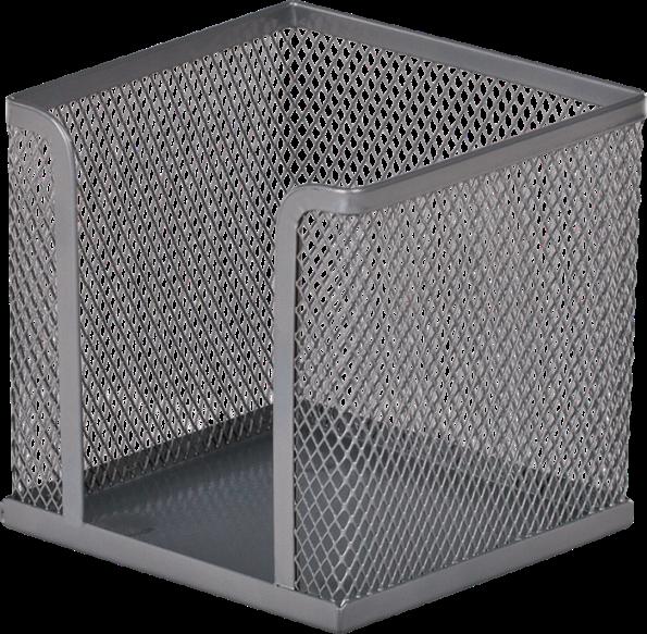 Бокс для бумаги 100х100х100 мм, металлический, серебро(BM6215-24)