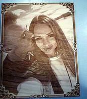Фотография на деревянном портрете, фото 1