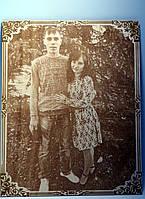 Фотопортрет с рамкой на подарок