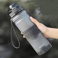 Спортивная Бутылка для воды UPSTYLE ZORRI Тритан 1 литр темно-серый
