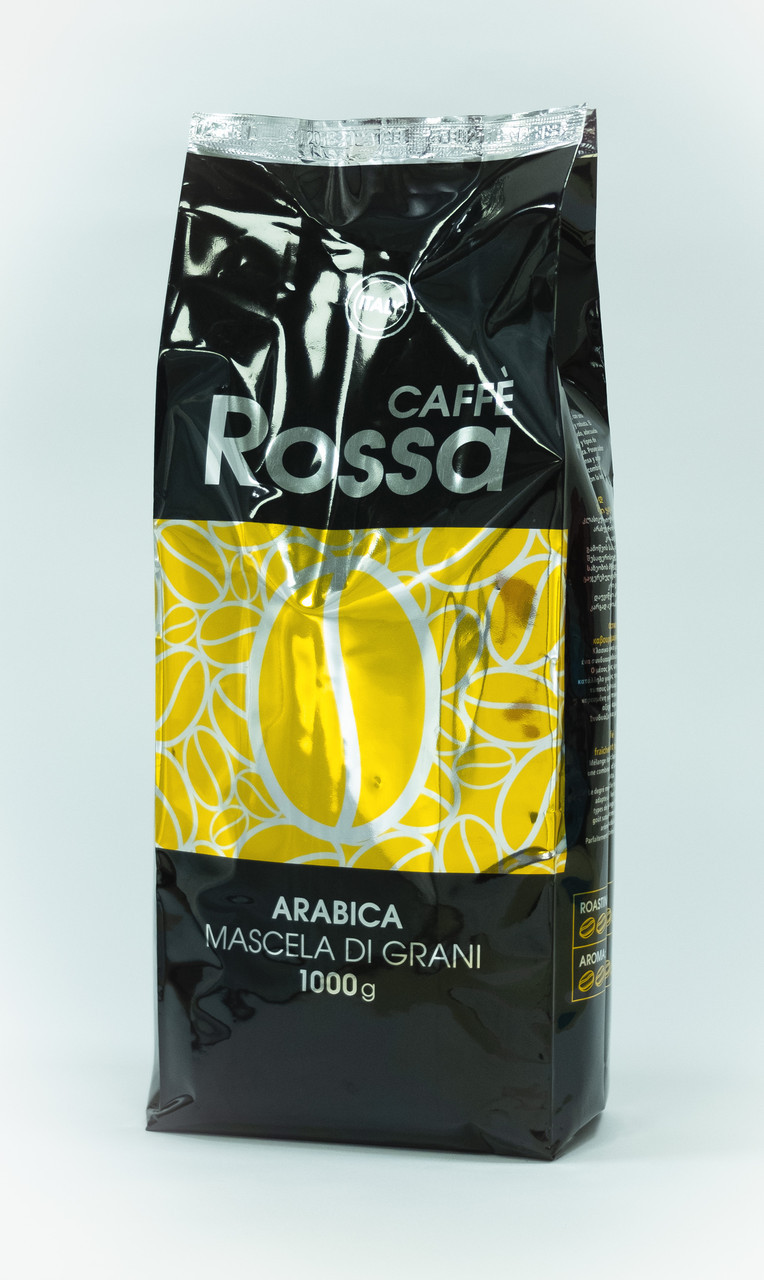 Кофе в зернах Ricco Rossa золото 30% Арабика 70% робуста 1 кг