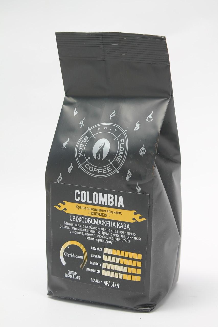 Кофе в зернах  Black Coffee Flame Colombia 100% Арабика 250 гр