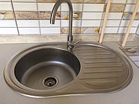 Врезная кухонная мойка Platinum 7750 Decor 0,6мм декор
