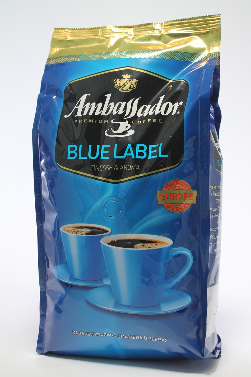 Кофе в зернах Ambassador Blue Label 1 кг Польша