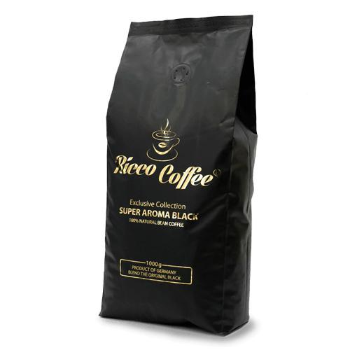 Кофе в зернах Ricco Coffee Super Aroma Black  60% Арабика  40% Робуста 1 кг