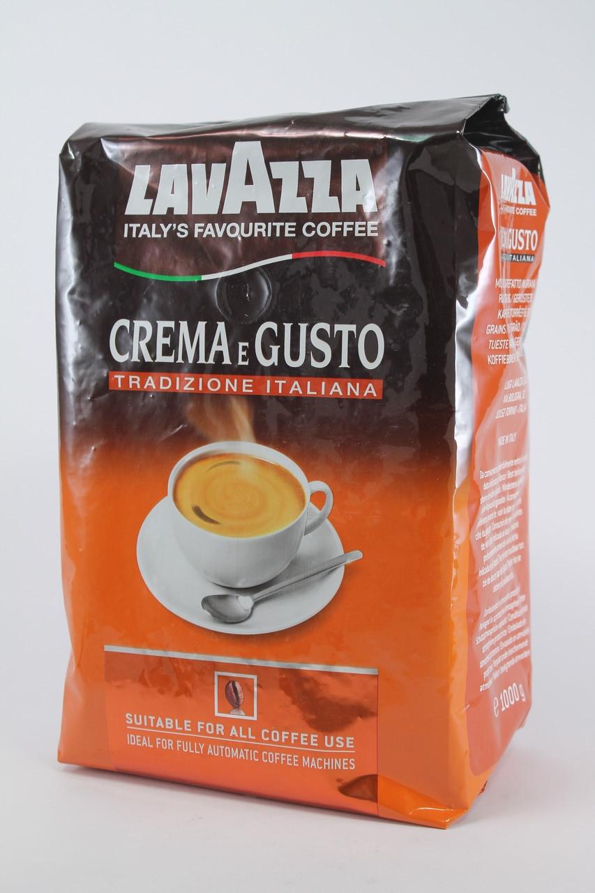 Кофе в зернах Lavazza CREMA e GUSTO Tradizione Italiana 1кг Оригинал Италия