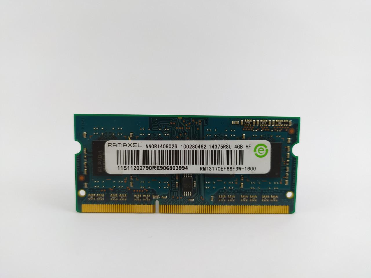 Оперативная память для ноутбука SODIMM Ramaxel DDR3 4Gb 1600MHz PC3-12800S (RMT3170EF68F9W-1600) Б/У
