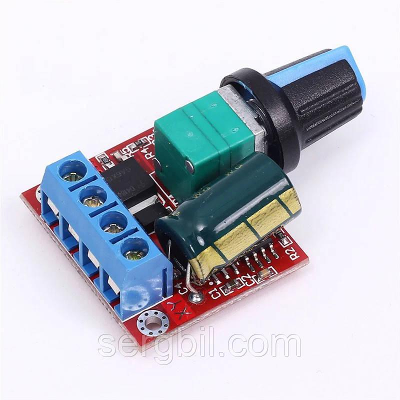 ШИМ регулятор скорости мотора /LED диммер DC 5-35В/5А -->1-100% 90Вт