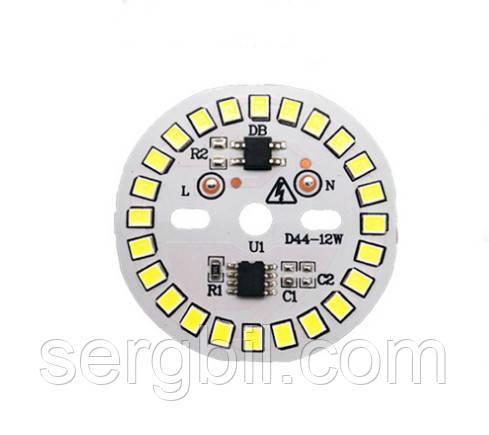 Светодиодный модуль для LED ламп 12Вт 6500K 1080лм 220В диаметр 44мм