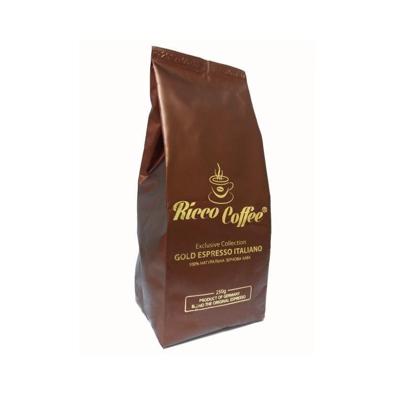 Кофе в зернах Ricco Coffee Gold Espresso 30% Арабика  70% Робуста 250 г