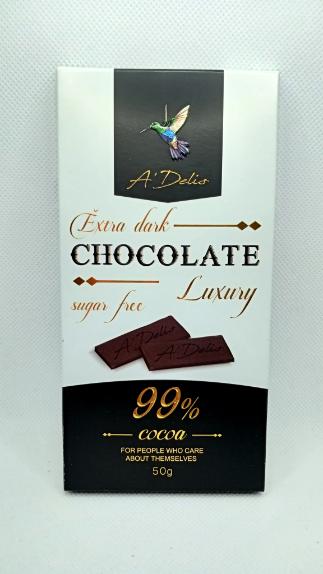 Шоколад экстра черный 99% без сахара