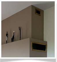 Вентиляционная решетка для камина KRATKI 17х49 см золотая гальванизированная с жалюзи, фото 3