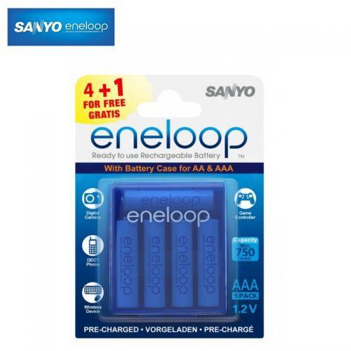 5шт аккумулятор мизинчиковый Sanyo Eneloop AAA 800
