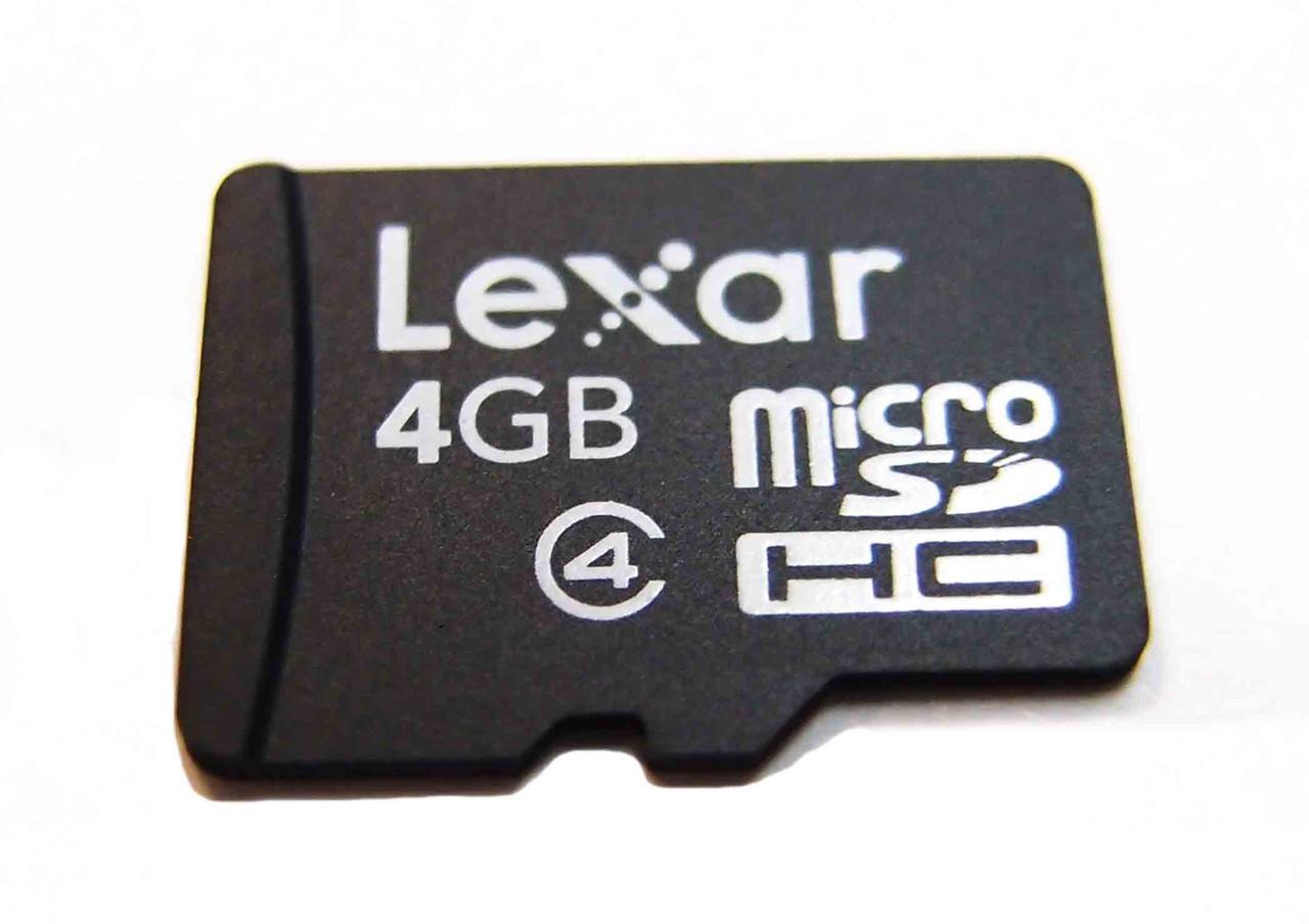 """Карта памяти Lexar microSD 4GB class 4 с SD - Интернет-магазин """"Дрібниці"""" в Киеве"""