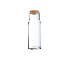 Графин-бутылка 1 л., 8х27 см. стеклянная с деревянной крышкой Luminarc FUNAMBULE (N3941)