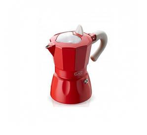 Гейзерная GAT ROSSANA кофеварка красная на 3 чашки (103103 червона)