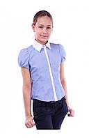 Школьная блузка для девочки Angelir Полоска 122 см Электрик