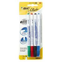 Набор маркеров для досок сухостираемых 4 шт BIC Velleda .Цветные