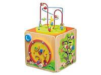 """Деревянная развивающая игрушка """"Головоломка"""" Playtive Junior куб"""