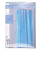 Шторка для ванной Miomareс 3D эффектом ярко синяя 180х200 см