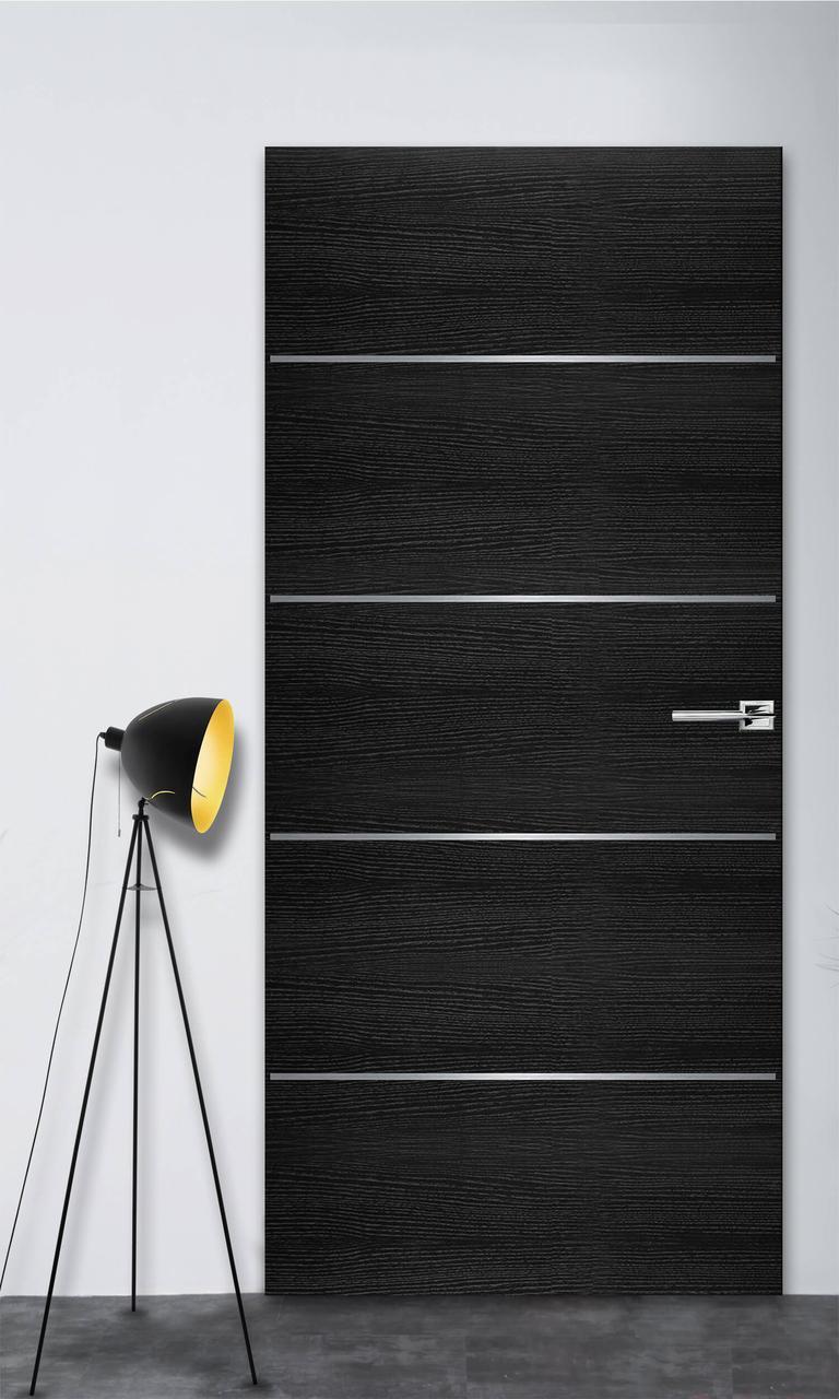 Межкомнатная дверь Флэш 2 черный ясень ПГ (скрытого монтажа)
