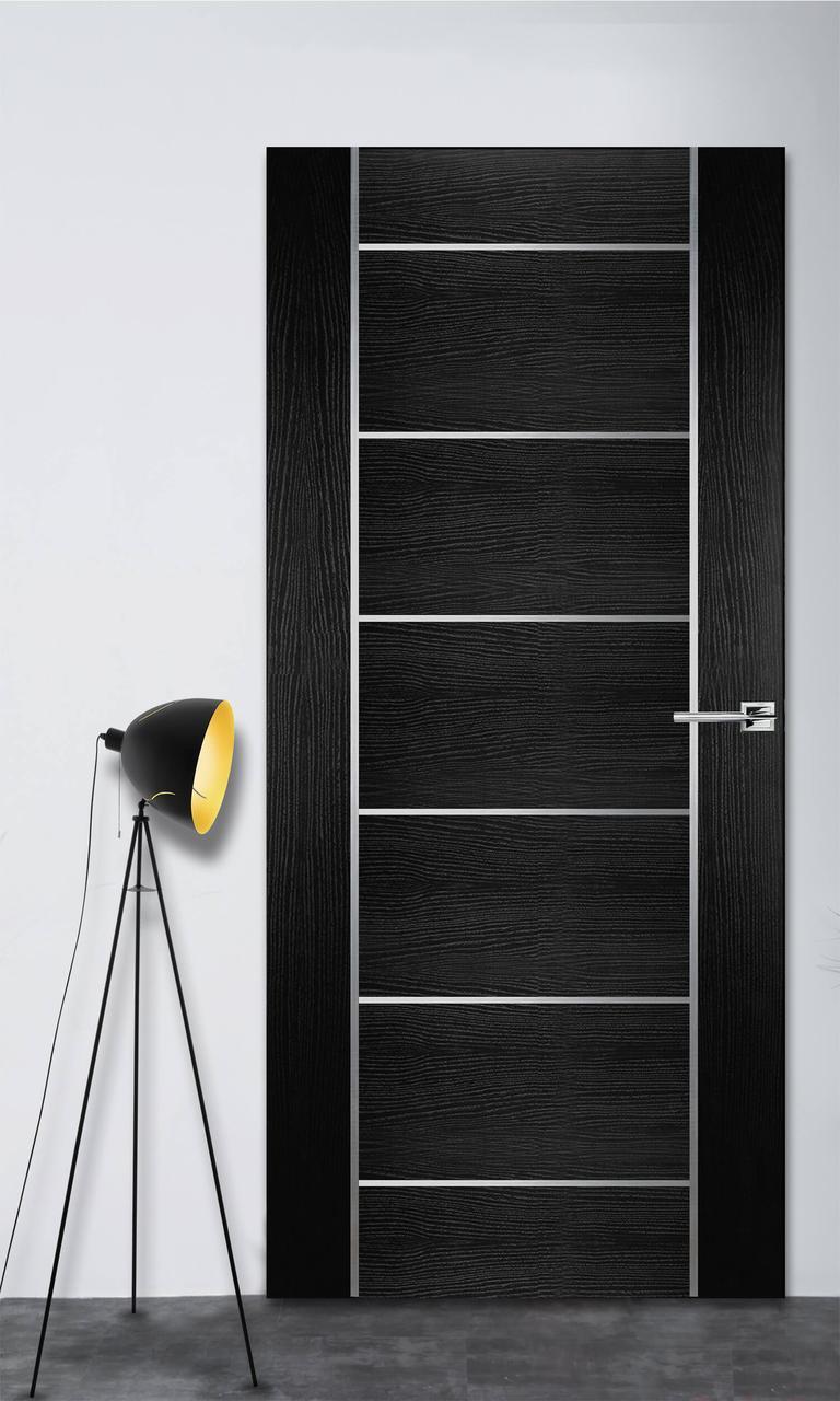 Межкомнатная дверь Флэш 8 черный ясень ПГ (скрытого монтажа)