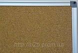 Доска пробковая в алюминиевой раме 65х100 см UkrBoards. Дошка коркова в алюмінієвій рамі, фото 3