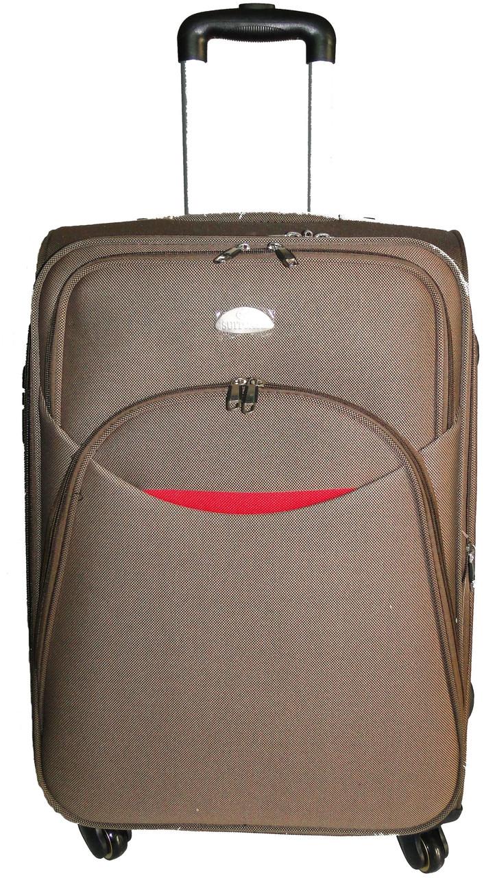 Большой тканевый чемодан 80 л Suitcase 013755 хаки
