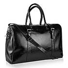 Шкіряна дорожня сумка BETLEWSKI (BTM-03) 54х34-чорна, фото 4