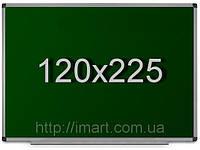 Доска для мела 120х225 см в алюминиевой раме UkrBoards. Крейдова зелена дошка у рамці