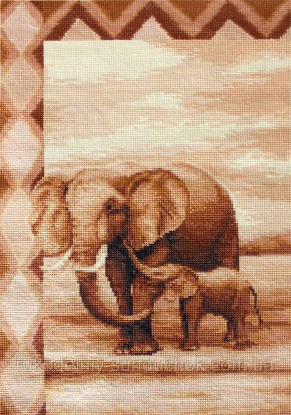 """Набор для вышивания крестом """"Luca-s""""  B2226 Слоны"""