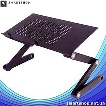 Столик для ноутбука Laptop Table T9 - складной столик подставка для ноутбука с активным охлаждением, фото 3