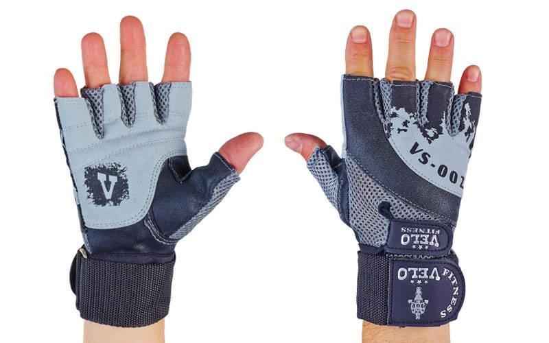 Перчатки атлетические с фиксатором запястья VELO VL-8121 (реплика)