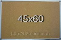 Доска пробковая в алюминиевой раме (45х60см)