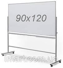 Доска оборотно-мобильная 90х120 см комбинированная мел/маркер UkrBoards. Двостороння дошка