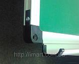 Доска для мела магнитная в алюминиевой раме 60х90 см UkrBoards. Крейдова зелена дошка у рамці, фото 4