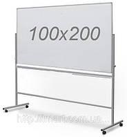 Магнитно - маркерная оборотно-мобильная доска(100х200см)
